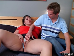 Doggy-banging for busty fat ass plumper