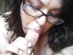 unsightly mature bbw throating my hard cock pov close up