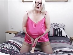 Pink satin negligee and dildo