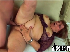 Hairy pussy banged in chubby dick