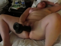 super body pawg together with a huge black dildo