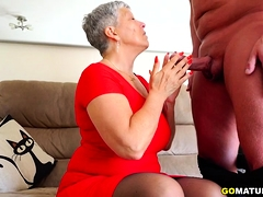 British older lady Savana screwing with the addition of sucking