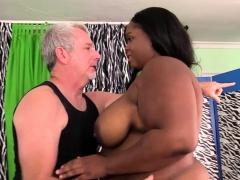 Sex Massage of Black BBW Olivia Leigh