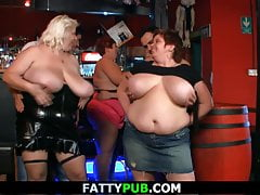 Big tits gang in the bbw bar