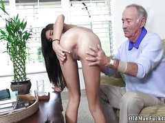 Old grown up granny and man fucks young shy girl first time
