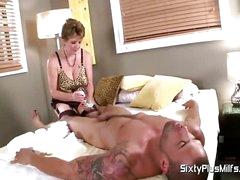 Mature slut back big tits gets fucked