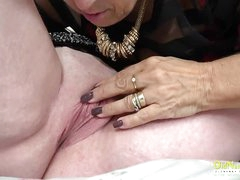 OldNannY Grown up Lesbian Ribbons Session and Toys