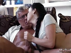 Broad in the beam superannuated granny s and fucking measure daddy first grow older What