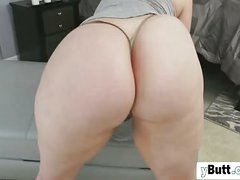 Chubby chunky fundamentally slut sucking orally and riding huge Negroid cock upon her bbw body