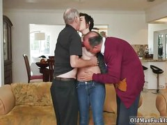 Old beggar gang bang creampie added to fat granny first time More