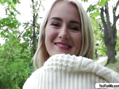 Titillating blonde teen Aisha fucks a from for obese cash