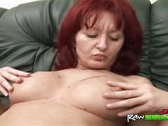 Crippled sponger sideways busty mature redhead