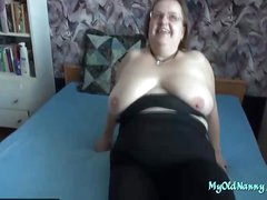 Bbw Granny Sucks and Gets Fucked from a young old bean and his enduring pecker slammer her cunt