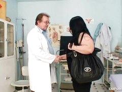 Big interior heavy mommy Rosana gyno dilute examination