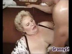 Fat And Busty Granny Enjoying A Bushwa