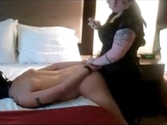 BBW Rough Strapon Pegging