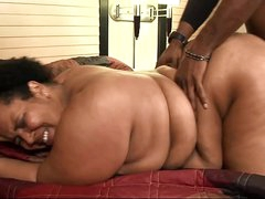Big black beautiful milf prostitute wanna enjoy black load of shit in her fat pussy long cum