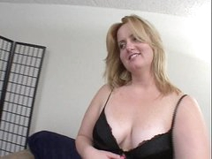 Blonde BBW gets ass fucked irregularly facial