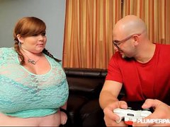 BBW Gamer Lexxxi Luxe Gets Her Pussy with an increment of Mouth Controlled