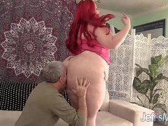 Fat redheaded harlot Jayden Constituent fucked complying