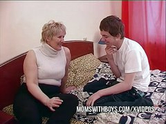 BBW Mature Mam Seduces Sons Friend