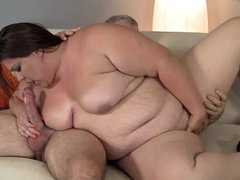 Bbw plumper fleshiness sucks together with fucks