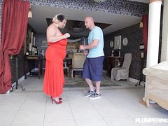Mature BBW Old bag Samantha 38G Gives Shagging Lessons to Stud