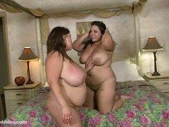 BBW Lesbians Kacey Parker N Jane Kush Rendered helpless Pussy
