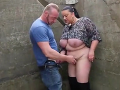 Dutch big beautiful woman alfresco