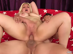 GoldenHaired big lovely woman