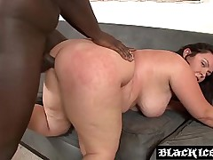 IR fucked BBW grabs a taste of warm cum