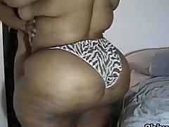Herculean black ass fucked by tiny guy