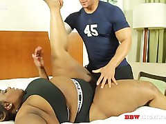 heavy booty ebony girl gets fuck by the brush coach part 1