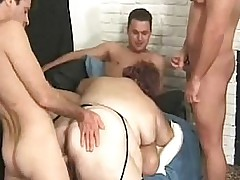 Horny Guys Gangbangs A Fat Fat Behemoth