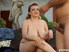 BBW Makes Skinny Guy Cum All Deliver up Their way Unselfish Juicy Tits