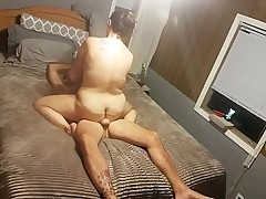 BBW w Big Natural Titties rides for a creampie