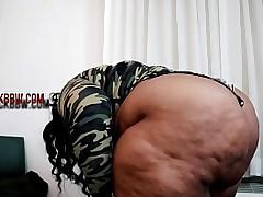 Chubby EBONY AMAZON BBW Plunder