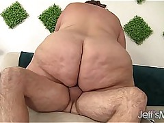 Huge fat ass gets in the flesh fucked
