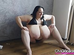 fat amateur posing on every side bikini