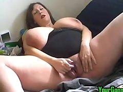 Busty huge tit bbw masturbates