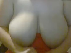 BBW saggy tits being fondled