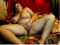 Fat Chubby Teen GF spreading and masturbating her Pink Pussy