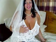 Bridal masturbating Simone