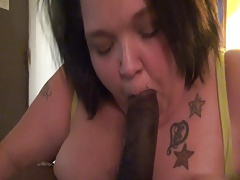 Becky Snowflake eating ass and suckin dick again