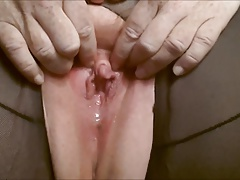 Playing with my big clit