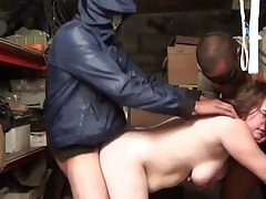 French BBW Florence gangbanged