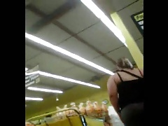 Thick Mexican Ass at Food 4 Less in Tight gray capri's(VPL)