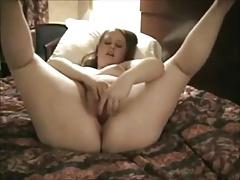 Very Horny Fat Chubby Teen masturbating at her hotel-1