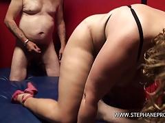 Une belge BBW se fait baiser a la chaine comme une pute