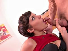Bella Beretta's Pussy Trashed While Her Scrimp Watches
